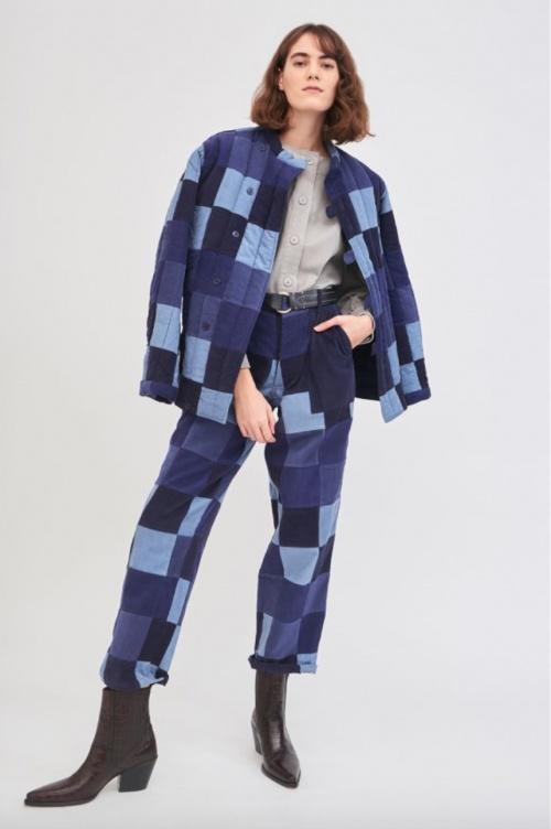 Antik Batik - Veste en jean patchwork