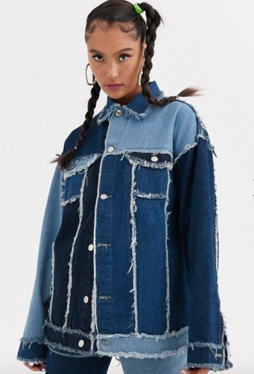 Jaded London - Veste jean patchwork