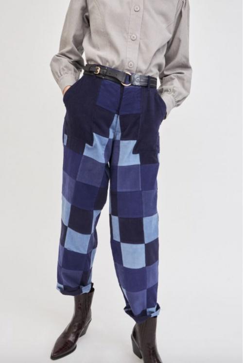 Antik Batik - Pantalon jean patchwork