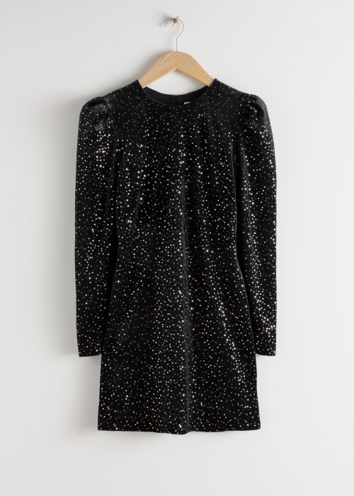 &Otherstories - Robe velour & sequins