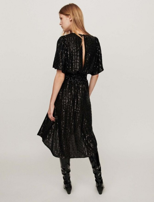 Maje - Robe longue noire