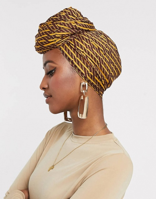 Asos Design - Grand foulard uni à monogramme