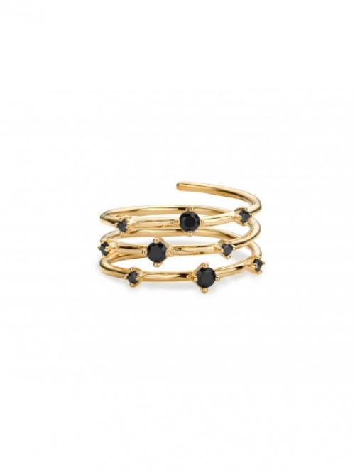 MYA BAY - Bague perles noires