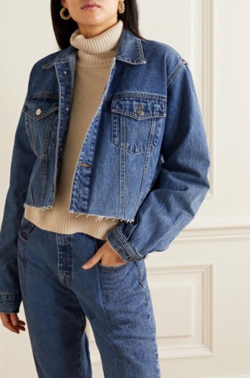 E.L.V - Veste jean crop