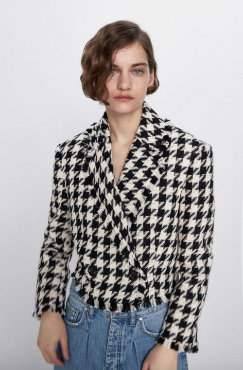 Zara - Veste courte tweed