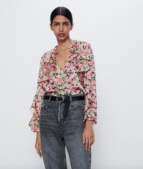 Zara - Blouse fleurie