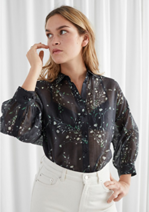 &Other Stories - Blouse fleurie