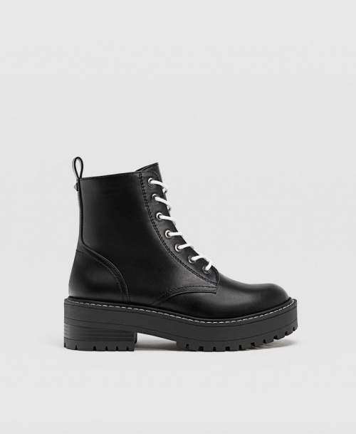 Stradivarius - Bottines noires