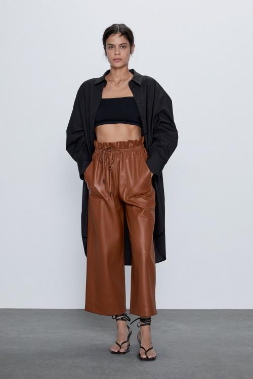 Zara - Pantalon en simili