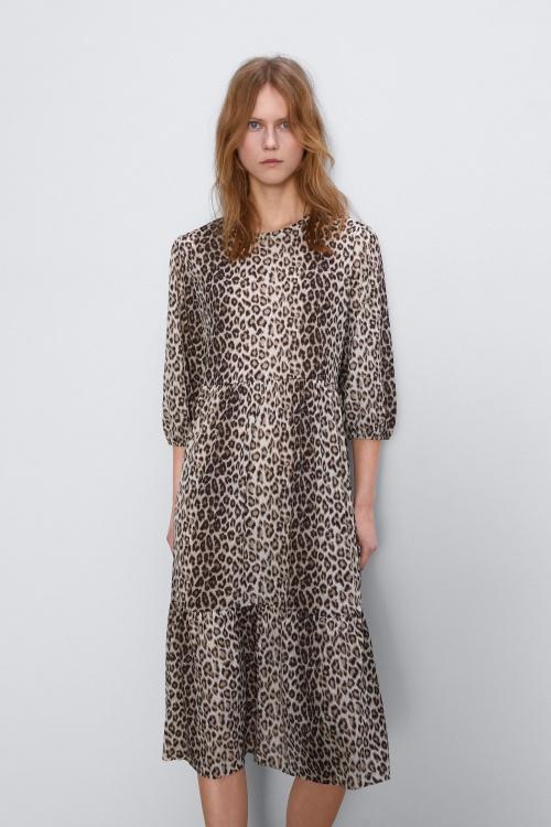 Zara - Robe imprimée leopard