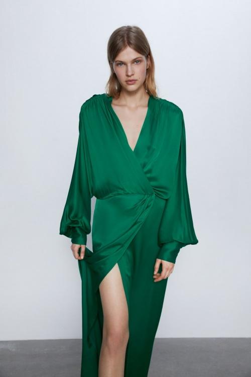 Zara - Robe satinée