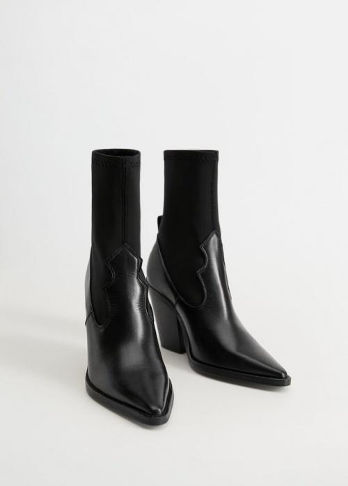 Mango - Boots en cuir