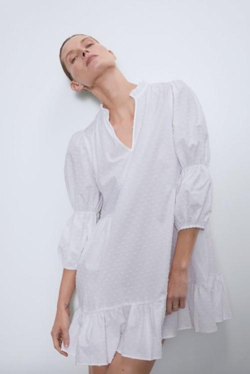 Zara - Robe en plumetis