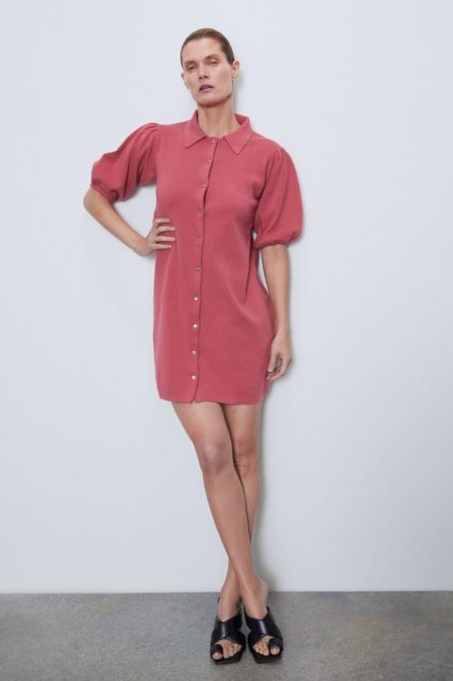 Zara - Robe manches bouffantes