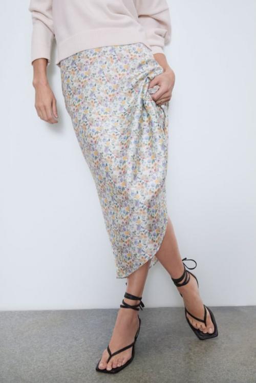 Zara - Jupe imprimée à fleurs