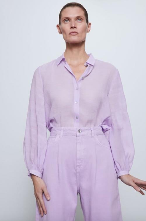 Zara - Chemise dos plissé