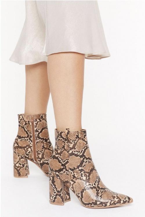 Nastygal - Boots imprimées serpent