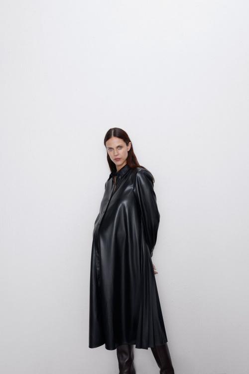 Zara - Robe en cuir synthétique