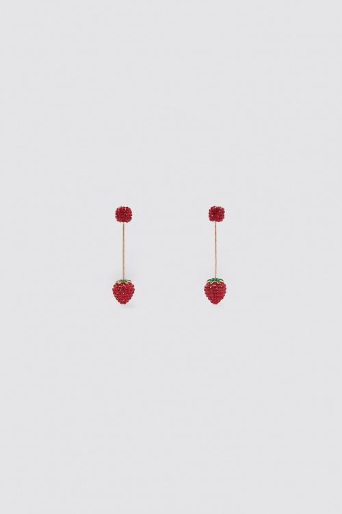 Zara - Boucles d'oreilles fraise