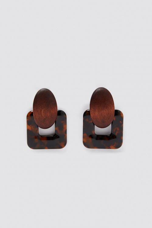 Zara - Boucles d'oreilles en bois