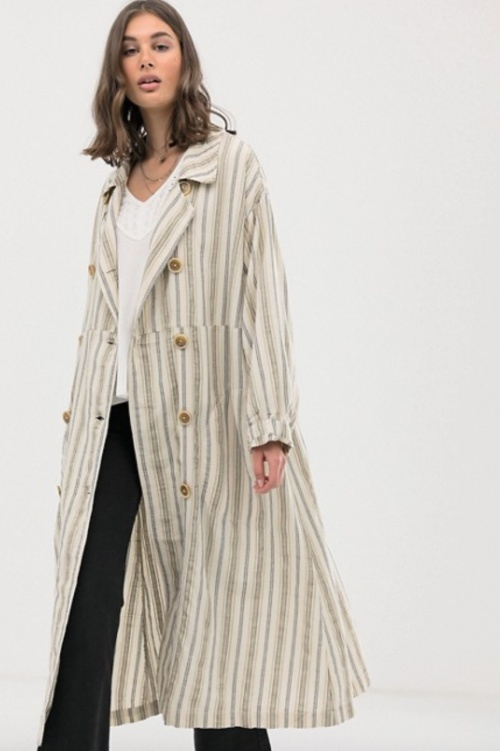 Free People - Trench imprimé