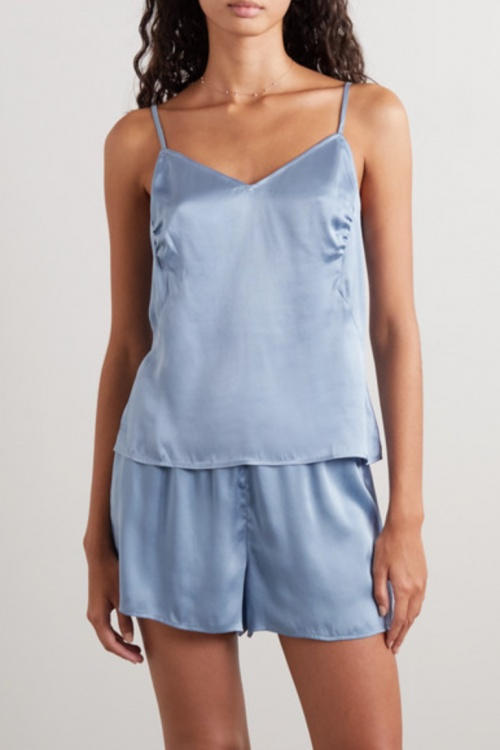 SKIN - Haut pyjama satiné