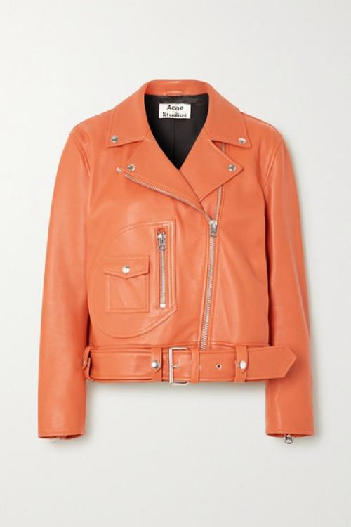 Acne Studios - Veste en cuir orange