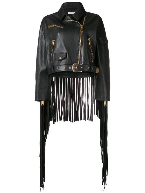 Natasha Zinko - Veste en cuir à franges