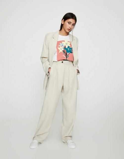 Pull & Bear - Pantalon large à pinces