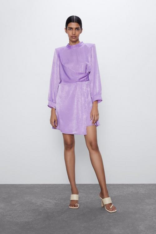 Zara - Robe satinée drapée