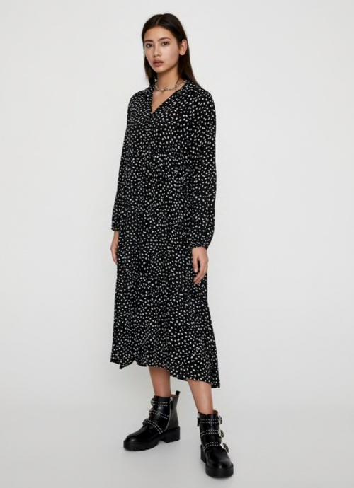 Pull&Bear - Robe longue imprimée