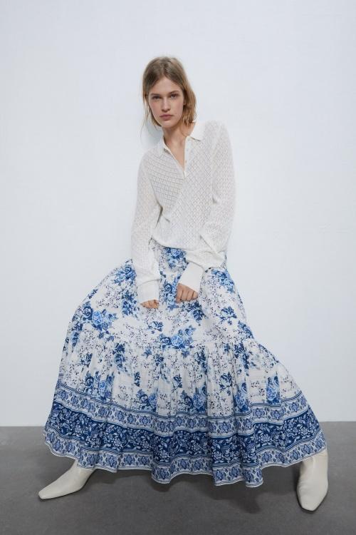 Zara - Jupe à fleurs