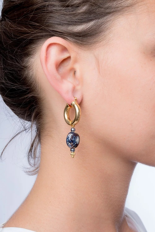 Sigal - Boucles Opra Blue Stone