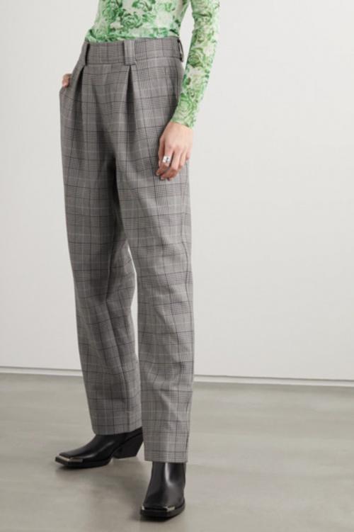 Ganni - Pantalon à carreaux