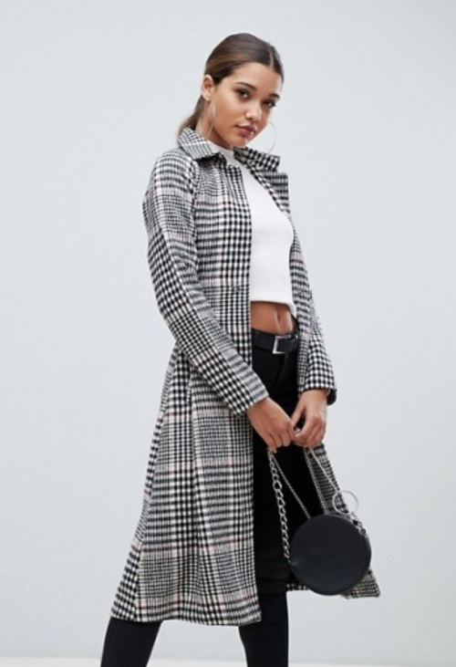 PrettyLittleThing - Manteau à carreaux