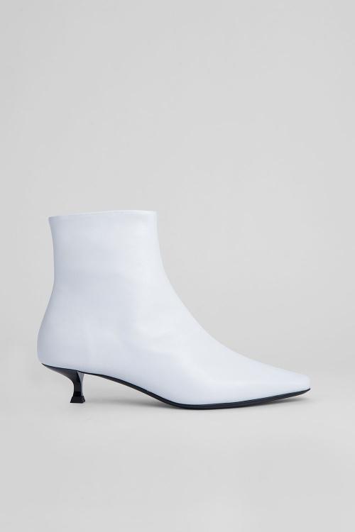 By Far - Bottines cuir blanc