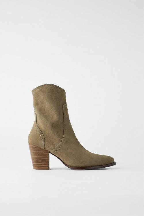 Zara - Bottines kaki