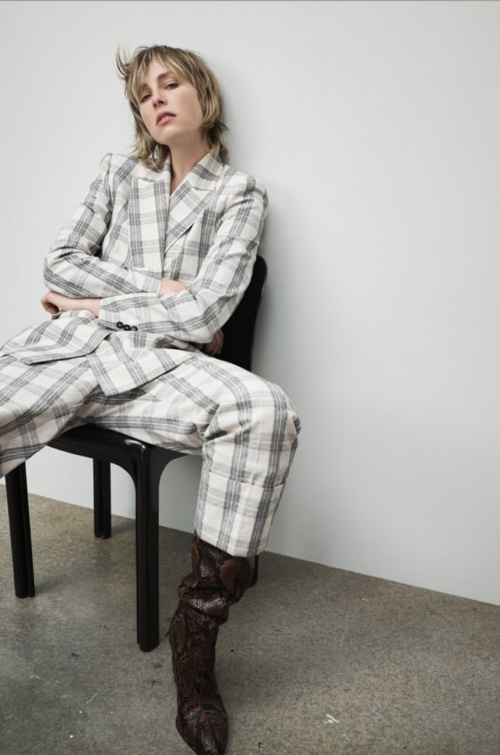 Zara - Pantalon à carreaux