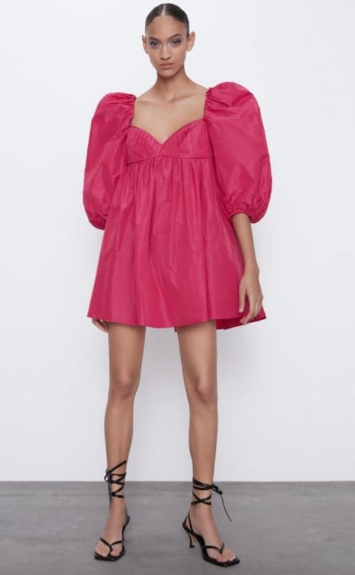 Zara - Robe en taffetas