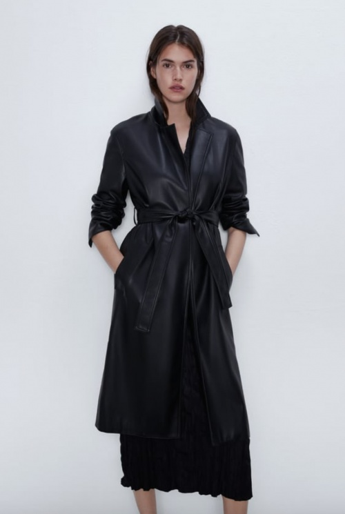 Zara - Trench simili cuir