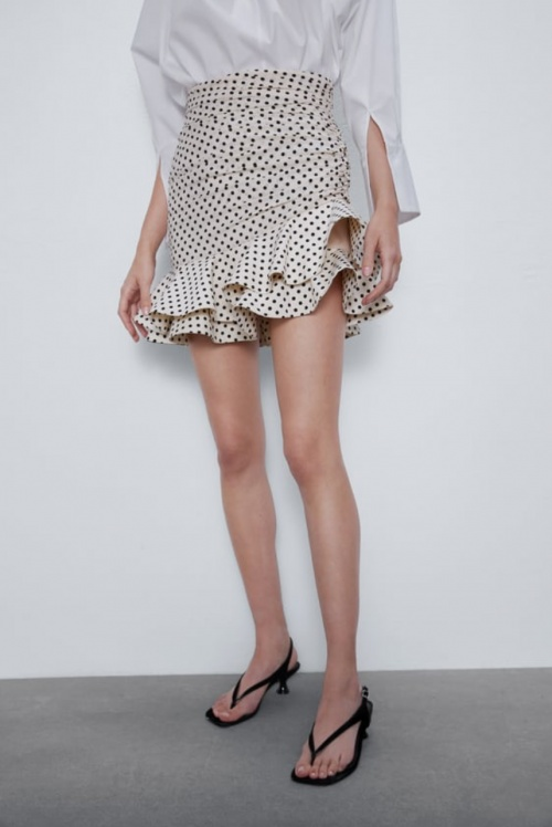 Zara - Mini jupe à pois