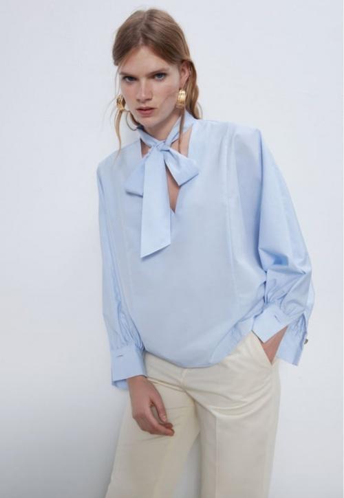 Zara - Blouse à noeud