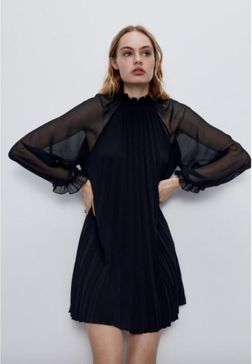 Zara - Robe courte plissée