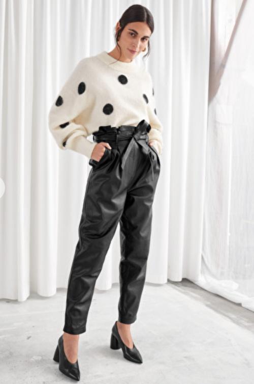 &Other Stories - Pantalon simili cuir