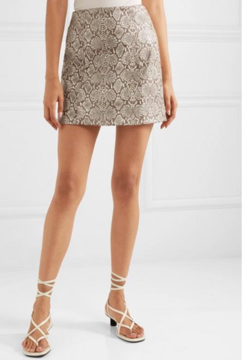 ALEXACHUNG - Mini jupe simili cuir