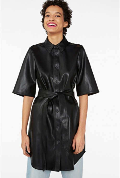 Monki - Robe simili cuir