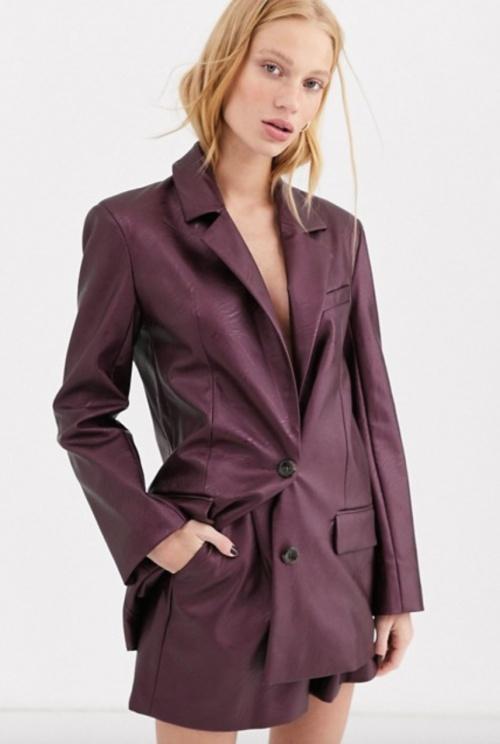 Asos Design - Blazer simili cuir