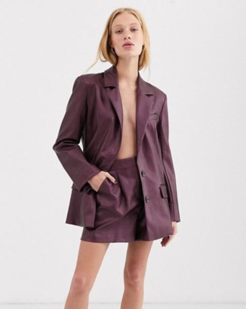 Asos Design - Short tailleur simili cuir