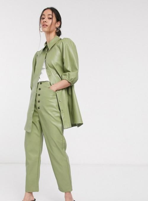 Ghospell - Pantalon simili cuir