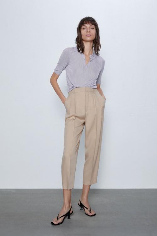 Zara - Pantalon fluide à pinces